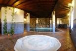 Beheiztes Schwimmbecken mit Jacuzzi (für alle Ferienhaus-Gäste)