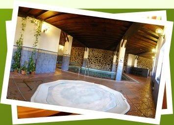 Piscina cubierta climatizada con jacuzzi gratuíto