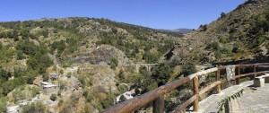 Río de Mecina Bombarón y Puente romano