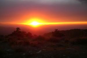 Atardecer en la Alpujarra